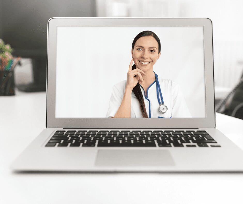 telemedicine, doctor on computer screen